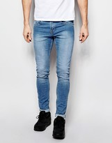 Pull&bear Super Skinny Jeans In Light Wash Blue