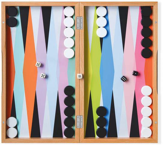 Moma Colorplay Backgammon Set