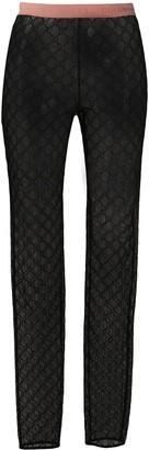Gucci Gg Monogram Leggings Black
