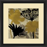 "PTM Images 1-29202 Shadow Gold Flowers IV, 35.56"" x 35.56"" Wall Art"
