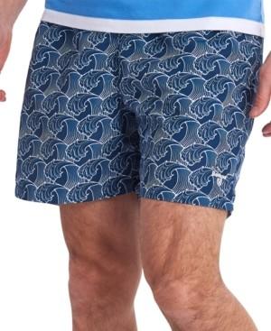 Barbour Men's Wave-Print Swim Trunks