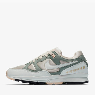 Nike Desert Sand and Summit White Mica Green Women's Air Span II Shoes - 36 1/2