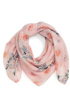 BP Women's Pleated Floral Print Scarf