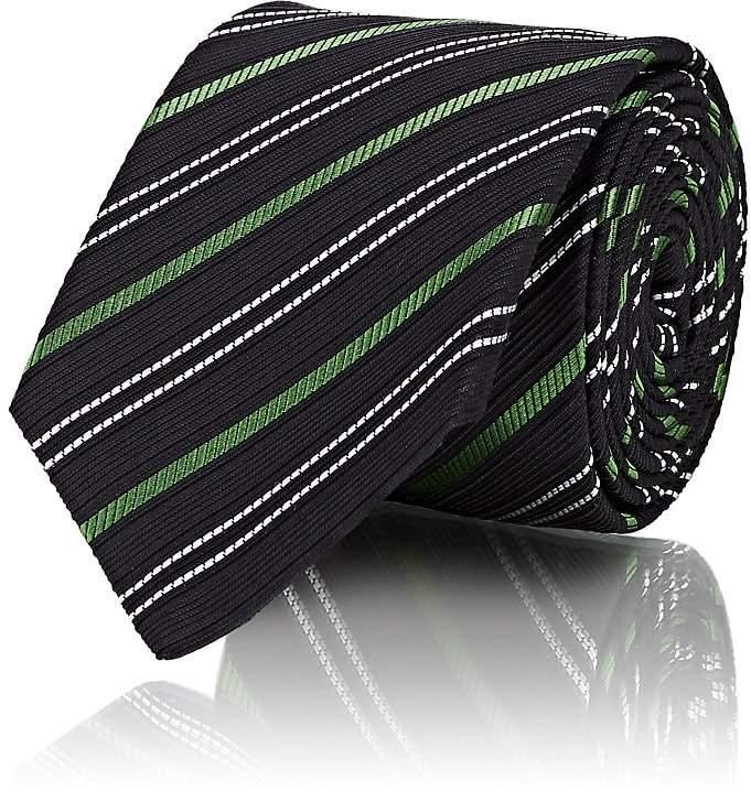 Gucci Men's Striped Textured Silk-Cotton Necktie