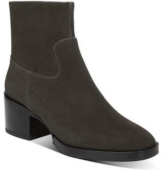 Via Spiga Women's Ginerva Block-Heel Ankle Booties