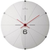 "Oliver Hemming Wall Clock with Simple Line Dial - White (20"")"