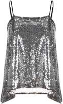 haoduoyi Women's Trendy Style Sequins Fabric Straps Tops Vest