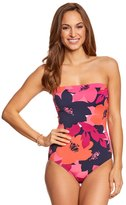 Anne Cole In Full Bloom Bandeau One Piece Swimsuit 8151744
