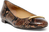 Ralph Lauren Farrel Python-Embossed Flat