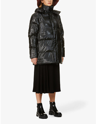 Rains Hooded shell puffer coat