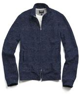 Todd Snyder Indigo Fleece Track Jacket