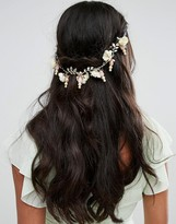 Her Curious Nature White Blossom And Pearl Hair Comb