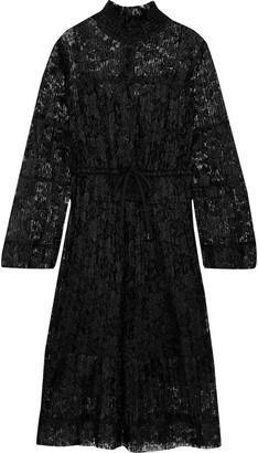 See by Chloe Plisse-lace Dress