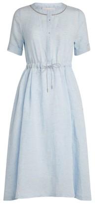 Fabiana Filippi Embellished Linen Dress