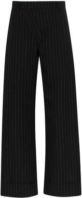Delada Pinstripe Wide Leg Trousers