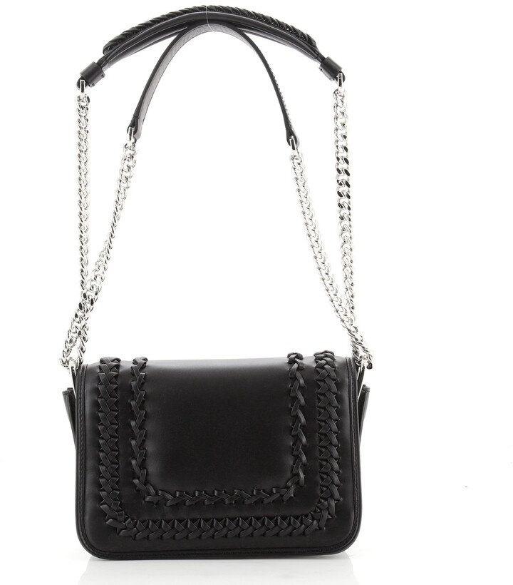 Thumbnail for your product : Tod's Double T Crossbody Bag Leather with Woven Detail Mini