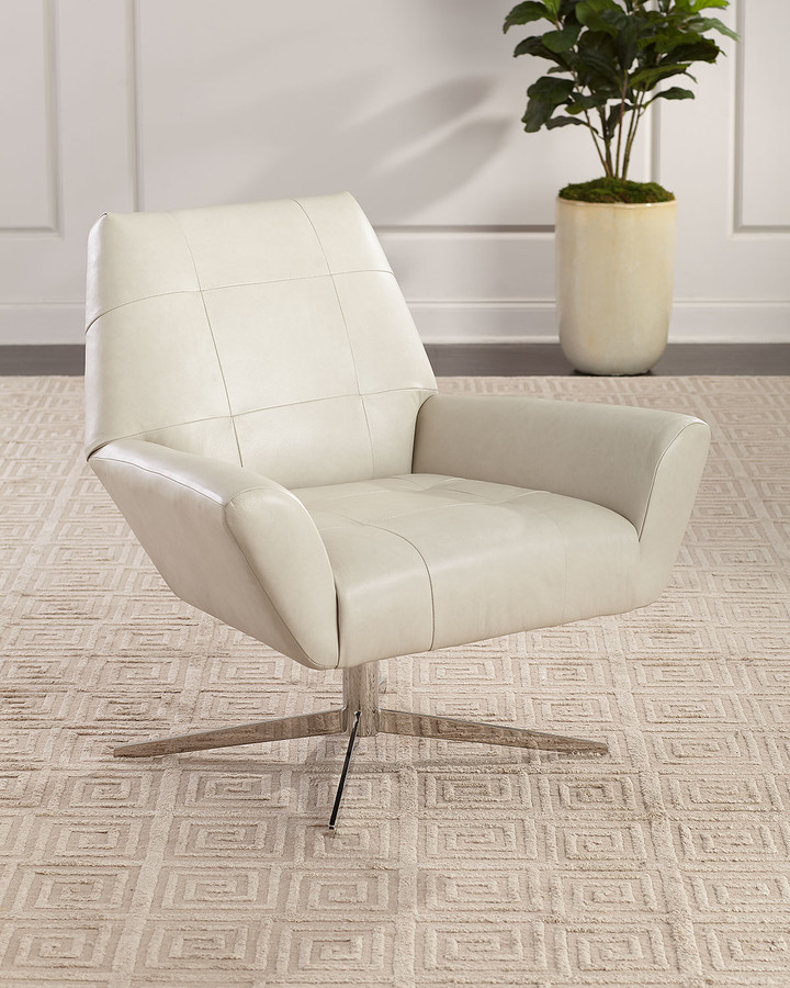 Phenomenal Leather Swivel Chair Shopstyle Beatyapartments Chair Design Images Beatyapartmentscom