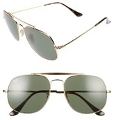 Ray-Ban Men's The General 57Mm Aviator Sunglasses - Gold/ Green