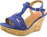 Jellypop Essie Women US 8.5 Blue Wedge Sandal