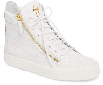 Giuseppe Zanotti Snake Embossed High Top Sneaker