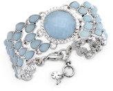 Lucky Brand Silver-Tone Blue Stone Link Bracelet