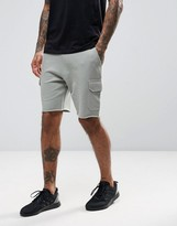 Asos Skinny Jersey Shorts With Cargo Pockets