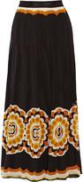 Anna Sui Printed silk-chiffon maxi skirt
