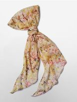 Calvin Klein Womens Petal Print Chiffon Scarf