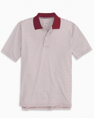 Southern Tide Gameday Pique Striped Polo Shirt
