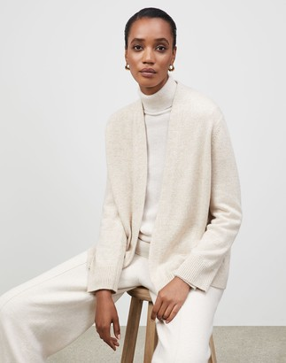 Lafayette 148 New York KindCashmere Chine Open Front Cardigan