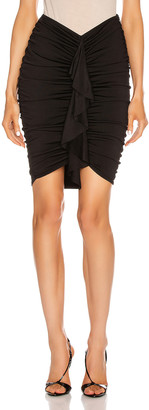 Alexandre Vauthier Crepe Knit Ruched Mini Skirt in Black | FWRD