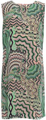 M Missoni Printed Silk-satin Mini Dress