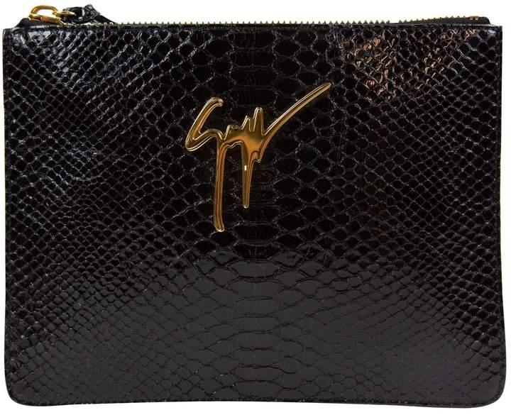 Giuseppe Zanotti Exotic leathers clutch bag