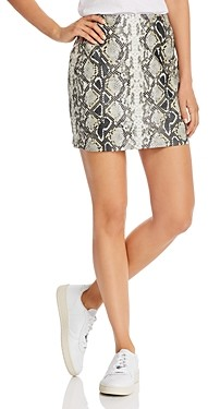 Aqua Embossed Faux-Leather Mini Skirt - 100% Exclusive
