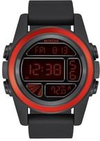 Nixon Men's The Unit Digital Silicone Strap Watch, 44Mm