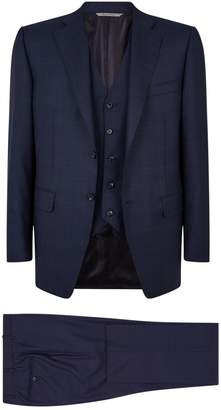 Canali Super 160s Wool Three-Piece Suit