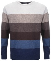 Paul & Shark Paul And Shark Crew Neck Striped Jumper Beige
