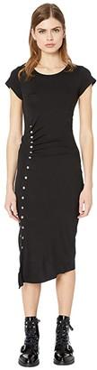 AllSaints Hatti Tee Dress (Black) Women's Clothing