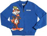 Moschino Tiger Printed Zip-Up Cotton Sweatshirt