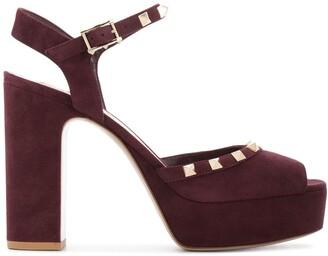 Valentino Rockstud suede platform sandals
