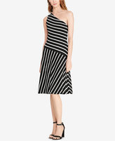 Lauren Ralph Lauren Striped One-Shoulder Dress