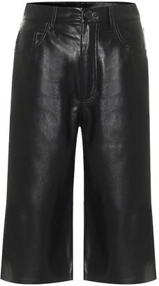Nanushka Nampeyo faux leather Bermuda shorts