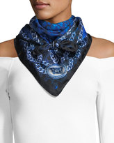 Versace Abstract Watercolor Foulard Scarf