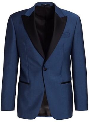 Emporio Armani Peak Lapel Wool & Mohair Suit Jacket