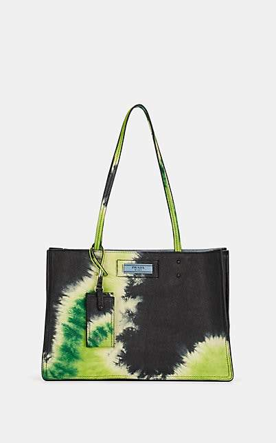 Prada Women's Etiquette Leather Tote Bag - Green