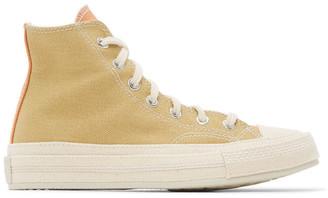 Converse Purple and Orange Renew Cotton Chuck 70 High Sneakers