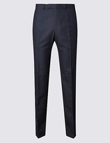 M&S Collection Navy Tailored Fit Trousers