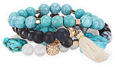 Anna & Ava Maybell Tasseled Stretch Bracelet Set