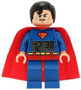 Lego DC Comics 9005701 Super Heroes Kids Minifigure Light Up Alarm Clock | blue/red | plastic | 9.5 inches tall | LCD display | boy girl | official
