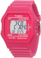 Timex Unisex 80 Square Face Pink Classic Digital Watch T2N246